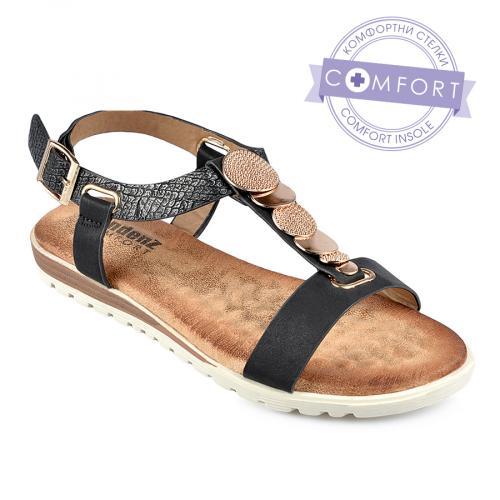 дамски ежедневни сандали черни 0137883