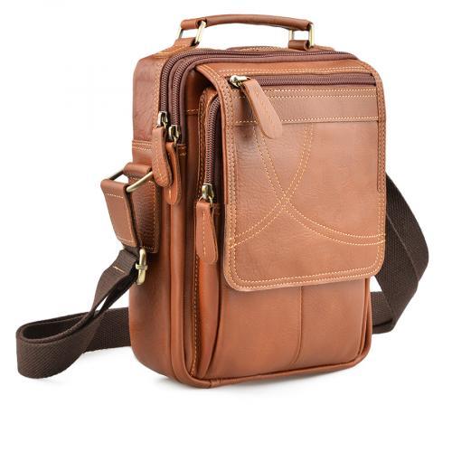 мъжка ежедневна чанта кафява 0138059