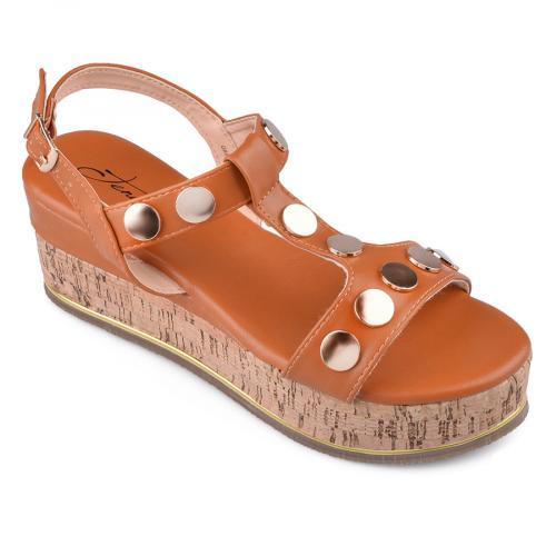 Дамски сандали с платформи 0134571