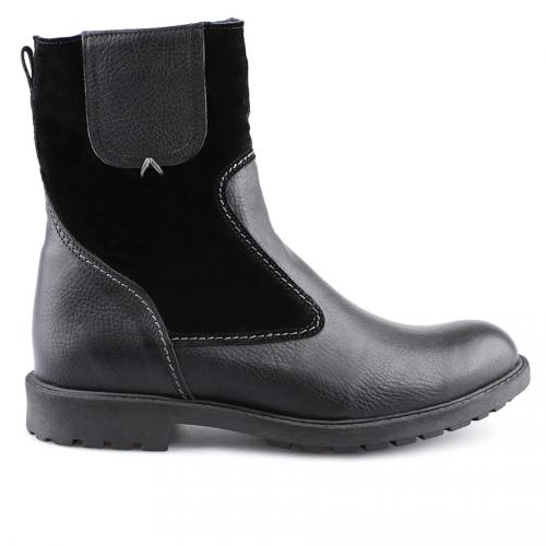мъжки ежедневни боти черни с топъл агнешки хастар 0127114