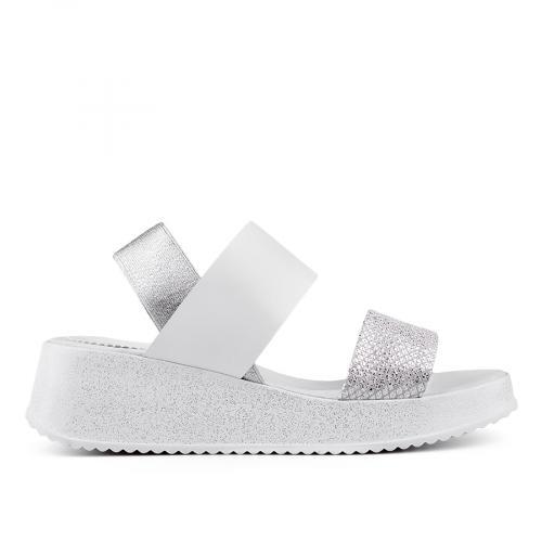 дамски ежедневни сандали бели 0135049