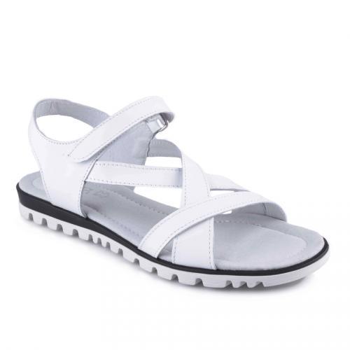 дамски ежедневни сандали бели 0127861
