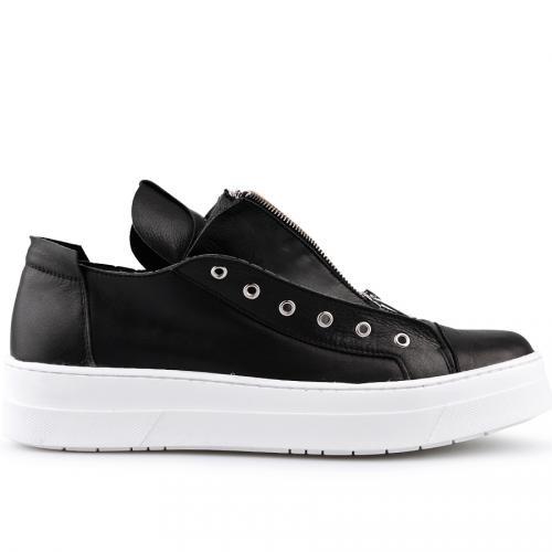 мъжки ежедневни обувки черни 0124916