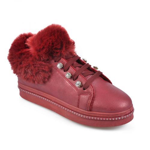 дамски ежедневни обувки червени 0135458