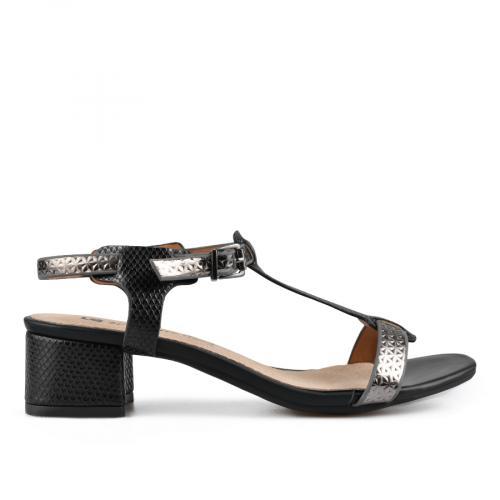 дамски елегантни сандали черни 0137623