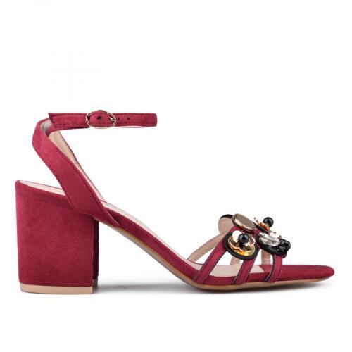 дамски елегантни сандали червени 0135858