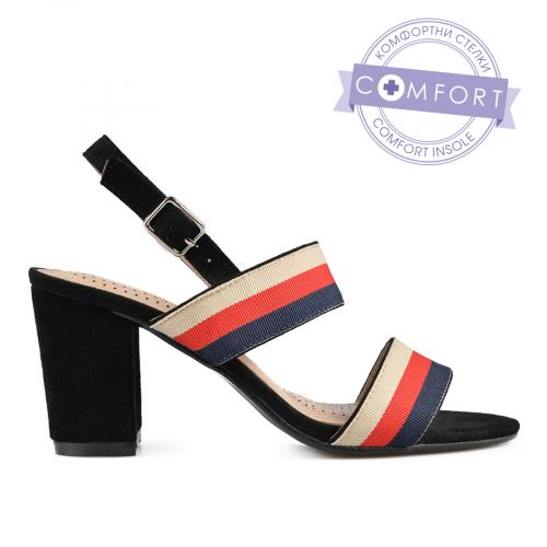 дамски елегантни сандали черни 0137423