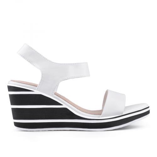 дамски ежедневни сандали бели 0134360