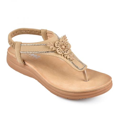 дамски ежедневни сандали бежови 0138235