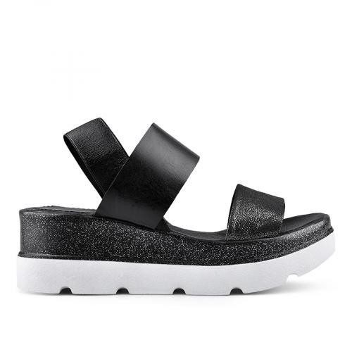 дамски ежедневни сандали черни 0135040