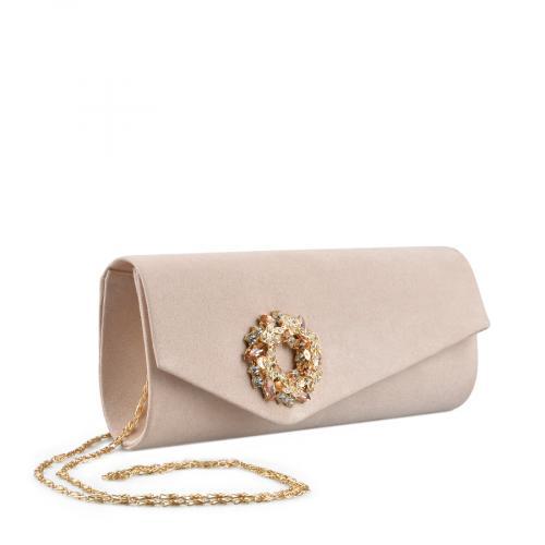 дамска  елегантна чанта бежова 0136761