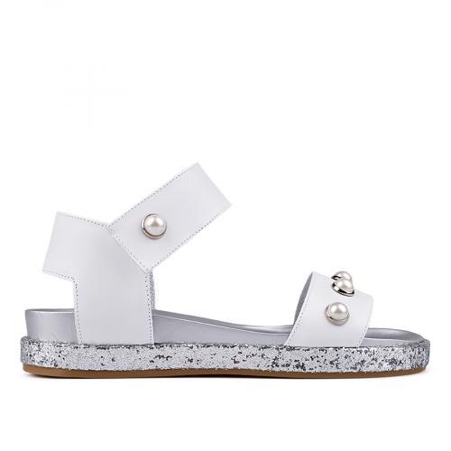 дамски ежедневни сандали бели 0132534