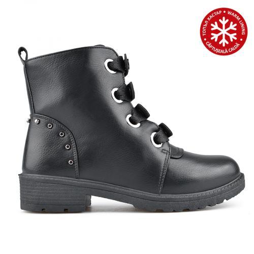дамски ежедневни боти черни с топъл хастар 0135196