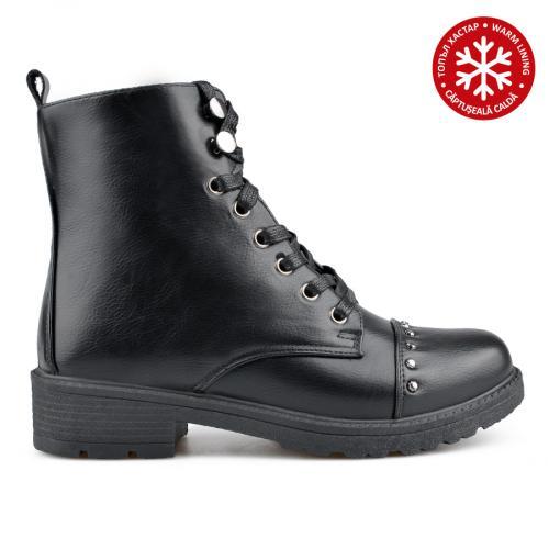 дамски ежедневни боти черни с топъл хастар 0135191