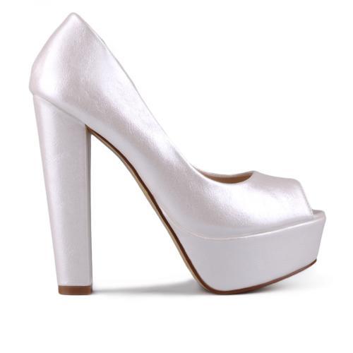 дамски елегантни обувки бели 0129367