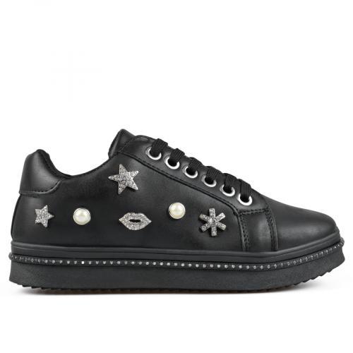 дамски ежедневни обувки черни 0135448