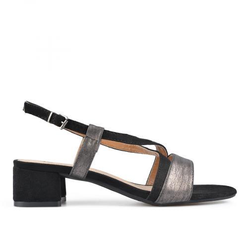 дамски елегантни сандали черни 0137619