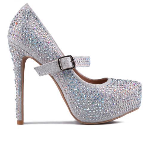 дамски елегантни обувки сребристи 0129208