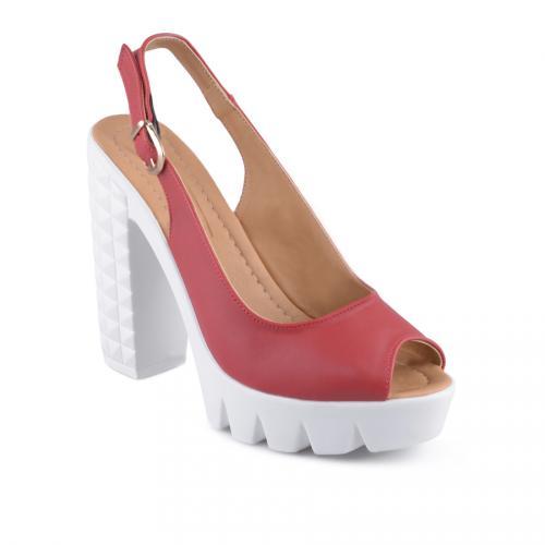 дамски ежедневни сандали червени 0128587