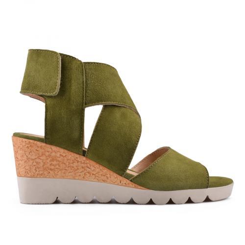 дамски ежедневни сандали зелени 0135019
