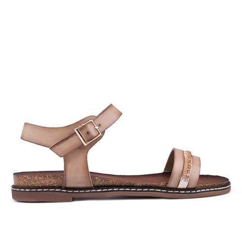 дамски ежедневни сандали бежови 0129891