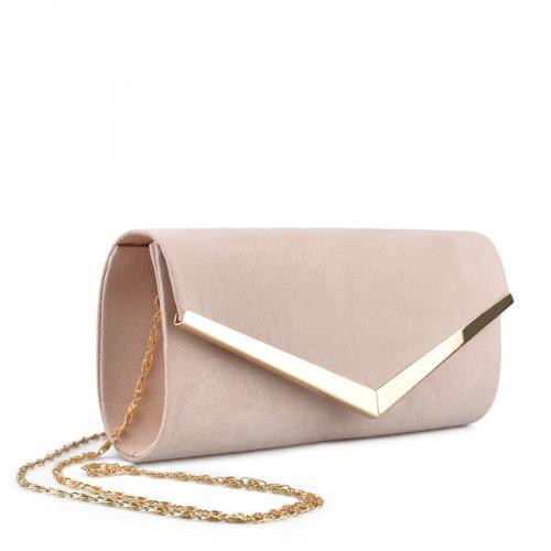 дамска  елегантна чанта бежова 0136763