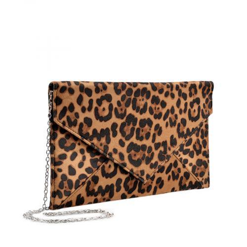 дамска  елегантна чанта кафява 0136743