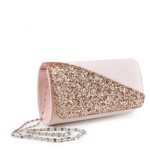 дамска елегантна чанта златиста 0136776