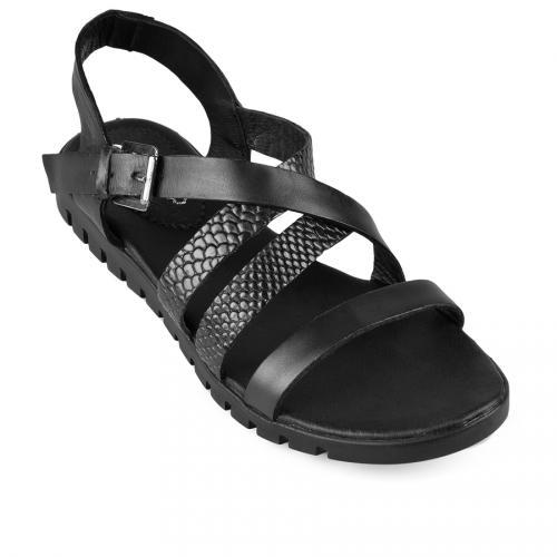 дамски ежедневни сандали черни 0128806