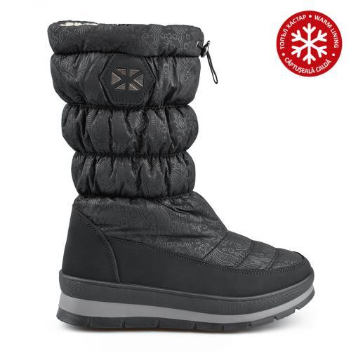 дамски ежедневни  ботуши черни с топъл хастар 0135541
