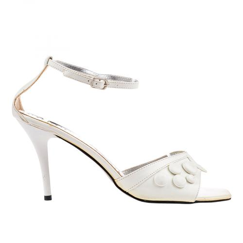 дамски сандали бели 0103297