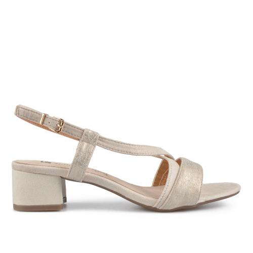 дамски елегантни сандали бежови 0137620