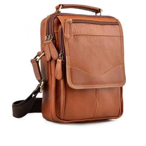 мъжка ежедневна чанта кафява 0138057