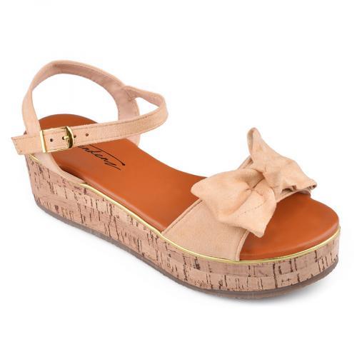 Дамски сандали с платформи 0134554
