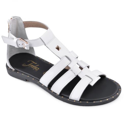 дамски ежедневни сандали бели 0135863