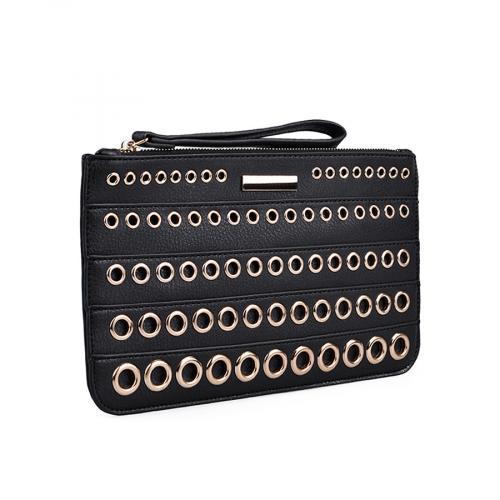 дамска елегантна чанта черна 0134378