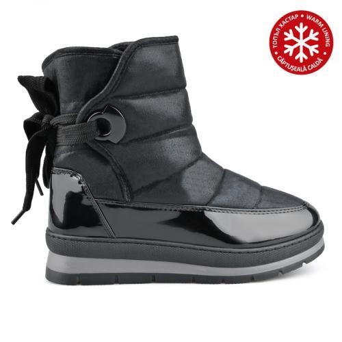 дамски ежедневни  боти черни с топъл хастар 0136023