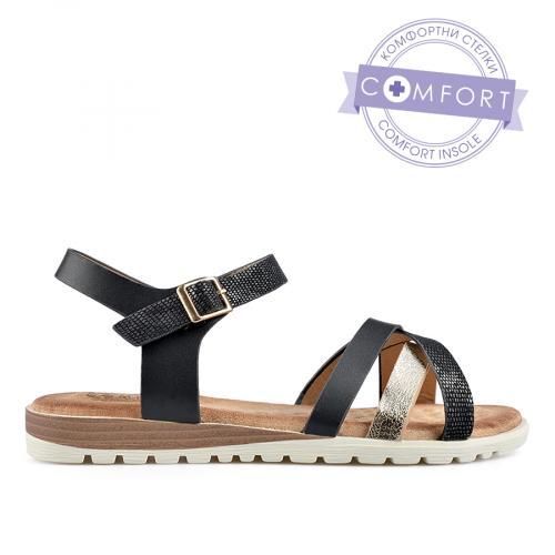 дамски ежедневни сандали черни 0137885