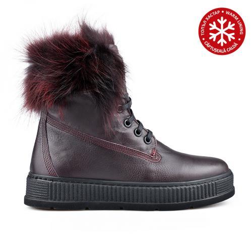 дамски ежедневни боти червени с топъл хастар 0136371