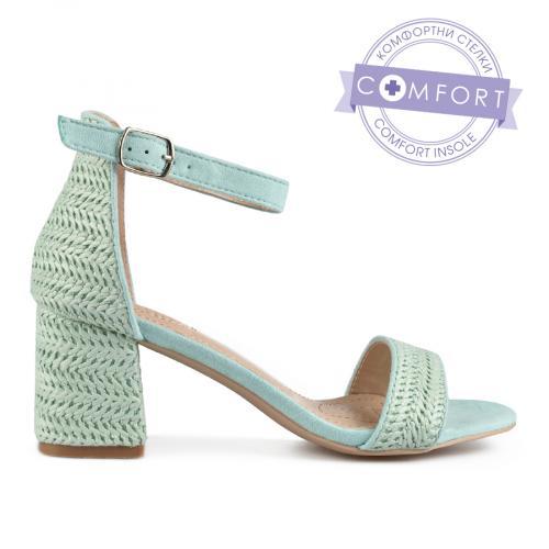 дамски елегантни сандали зелени 0137437