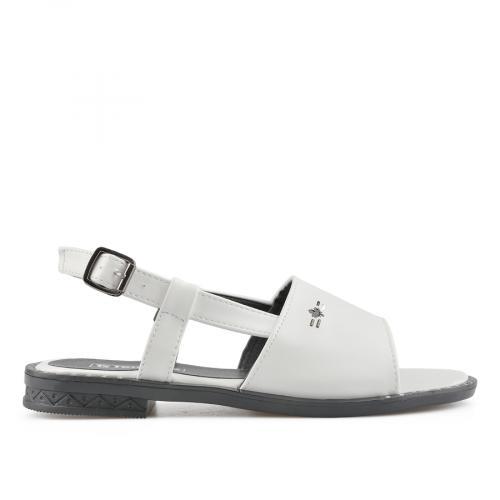 дамски ежедневни сандали бели 0137004