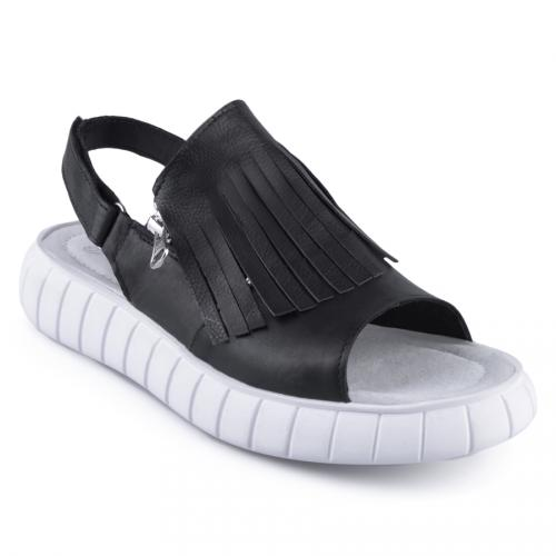 дамски ежедневни сандали черни 0127864