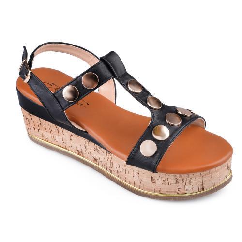 Дамски сандали с платформи 0134570