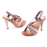 Дамски сандали на висок ток 0109486