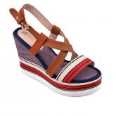 дамски ежедневни сандали червени 0134458