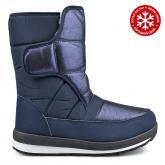дамски ежедневни ботуши сини с топъл хастар 0135212